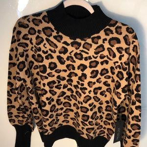 NEW Rachael Zoe leopard print sweater